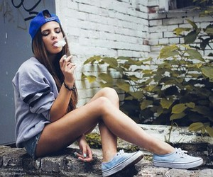 girl, smoke, and vans image