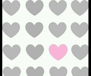 corazones, gris, and rosa image