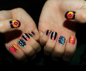 pattern, cool nails, and unghie colorate image