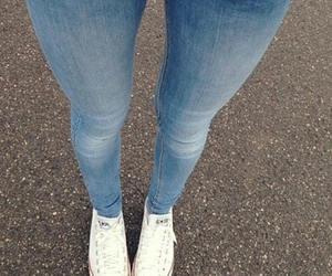 jeans, girl, and style image