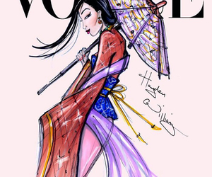 vogue, mulan, and disney image