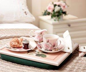 breakfast, milk, and tea image