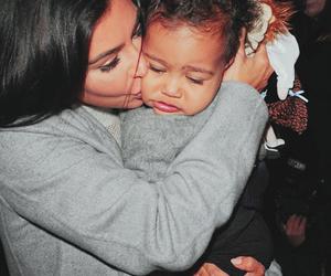 kim kardashian, north west, and kiss image