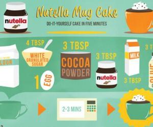 nutella, cake, and diy image
