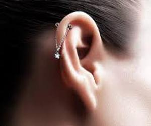 blonde, ear, and earring image