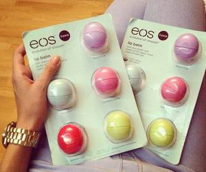 eos, lip balm, and lips image