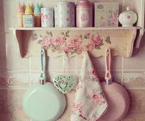 vintage, kitchen, and pastel image