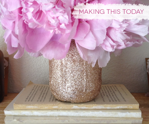 diy, flower, and glitter image