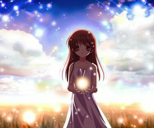 anime, clannad, and light image