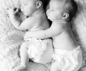 babies, baby, and twins image