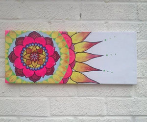 acrylic, bright, and flower image