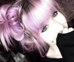 dyed hair, hair, and Piercings image