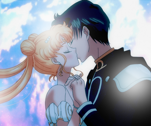 darien, sailor moon, and tuxedo mask image