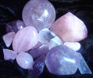 crystal, purple, and pastel image