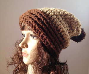 winter clothes, slouchy hat, and winter fashion image