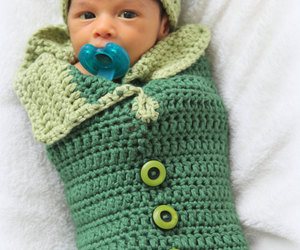 baby, cocoon, and crochet image
