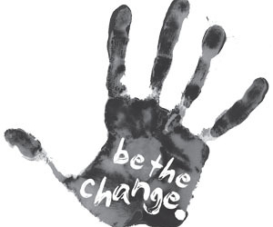 change, quote, and be image