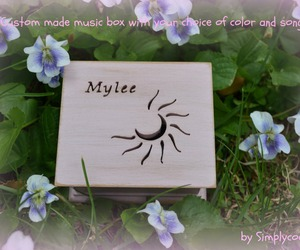 music box, wooden music box, and personalized gift image