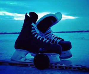 hockey, ice, and puck image