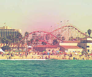 beach, photograpy, and Roller Coaster image