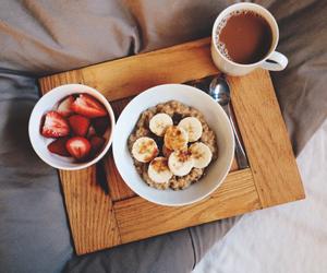 banana, bed, and strawberry image