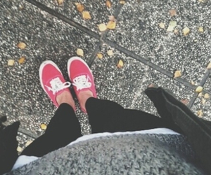 vans, red, and love image