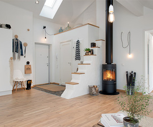 fireplace, room, and design image