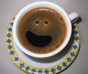 coffee, smile, and happy image