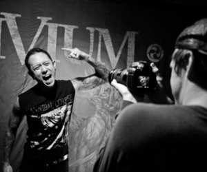 heavy metal, black and white, and trivium image