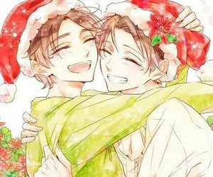 christmas, levi, and snk image