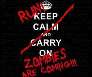 zombies, keep calm, and run image