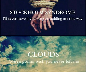 one direction, clouds, and stockholm syndrome image