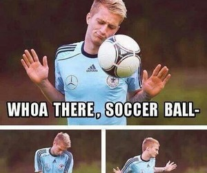 funny, marco reus, and soccer image