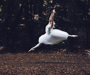 ballerina, ballet, and forest image