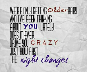 black and white, Lyrics, and night changes image