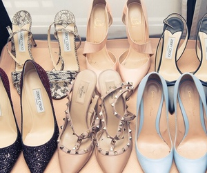 chic, designer, and high heels image