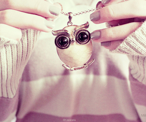 owl, cute, and necklace image
