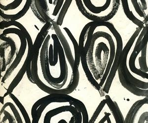 black & white, elegant, and pattern image