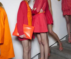 fashion, model, and orange image