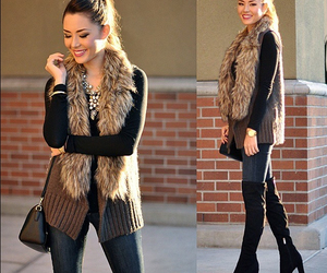 date, outfit, and fall image