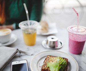 breakfast, delicious, and drink image