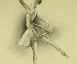 art, ballerina, and artwork image