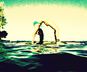 backbend, pretty, and surfing image