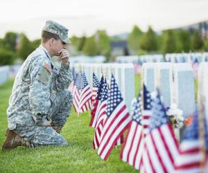 american, cemetery, and flags image
