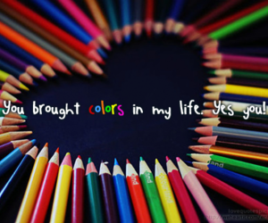 love, colors, and quote image