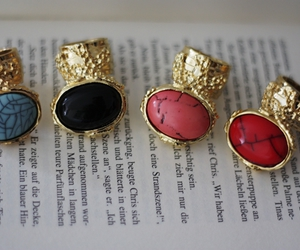 fashion, rings, and YSL image