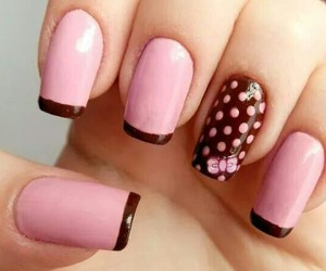 nails pink cute manicure image