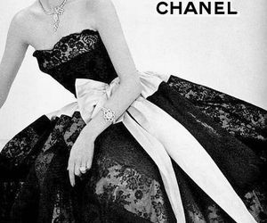 chanel, vintage, and black and white image