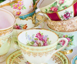 cup, vintage china, and dishes image