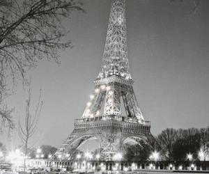 beautiful, black and white, and paris image